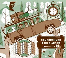 Down and Dirty Guide to Camping With Kids illustration