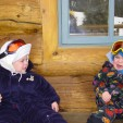 Two kids crying on a hut trip. Clearly the parents were screwing something up.