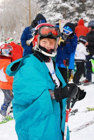 Aidan at the race start in Telluride.