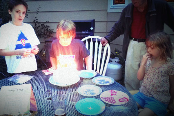 And we nearly set his head on fire during the day late birthday celebration.