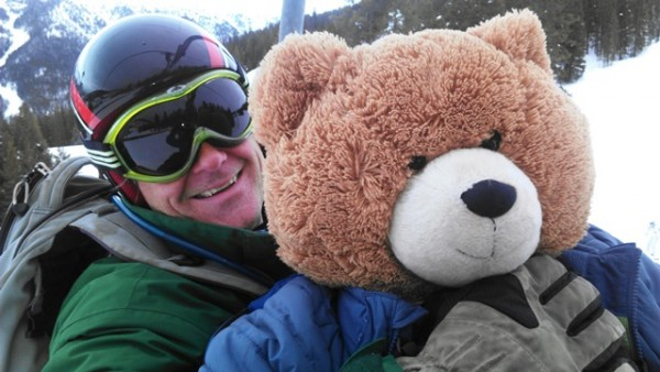 My husband never once volunteered to carry the bear.