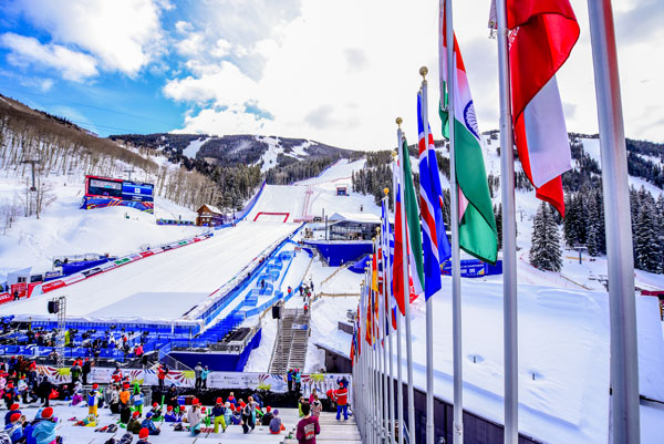 Red Tail Stadium at Beaver Creek is humming on a daily basis during the 2015 FIS Alpine World Ski Championships. Photo: Logan Robertson