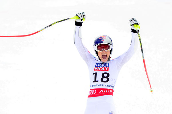 Lindsey Vonn captured a silver medal in the Super G at the World Championships.