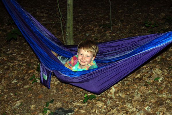 Hammocks make us happy in camp.