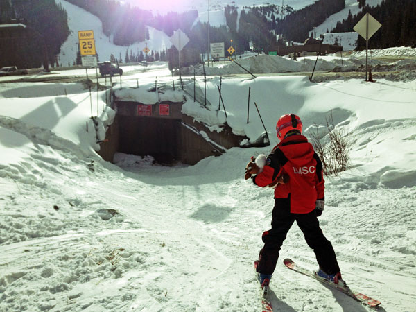 There's a tunnel under Loveland ski area for I-70 and a tunnel under I-70 for the skiers.