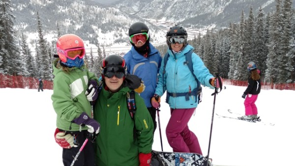 The must-have family photo on day 1. Copper Mountain, Colorado © Helen Olsson